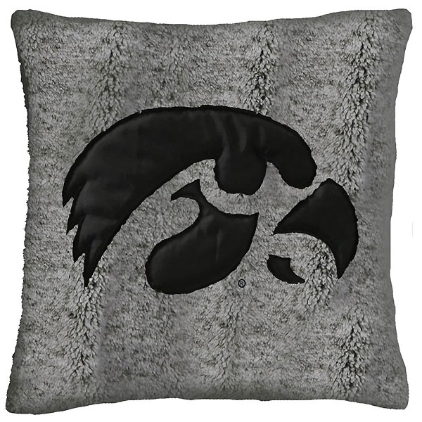 Iowa Hawkeyes Sherpa Smoke Pillow