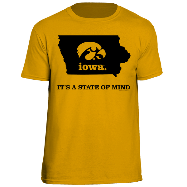 Iowa Hawkeyes State of Mind Tee