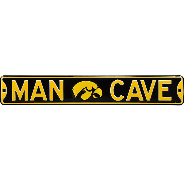 Iowa Hawkeyes Man Cave Street Sign