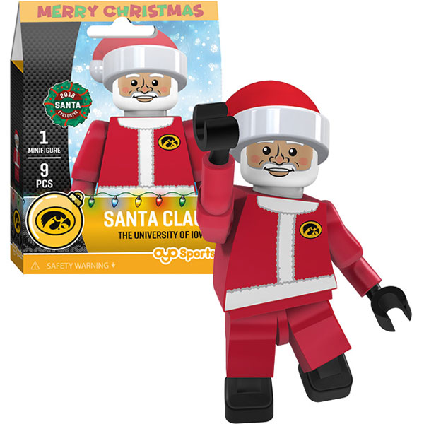Iowa Hawkeyes Santa Claus Figurine