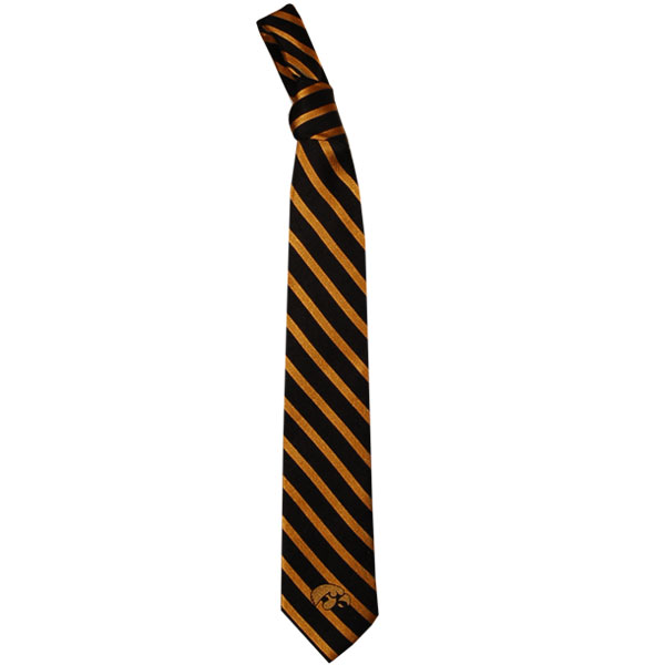 Iowa Hawkeyes Striped Logo Tie
