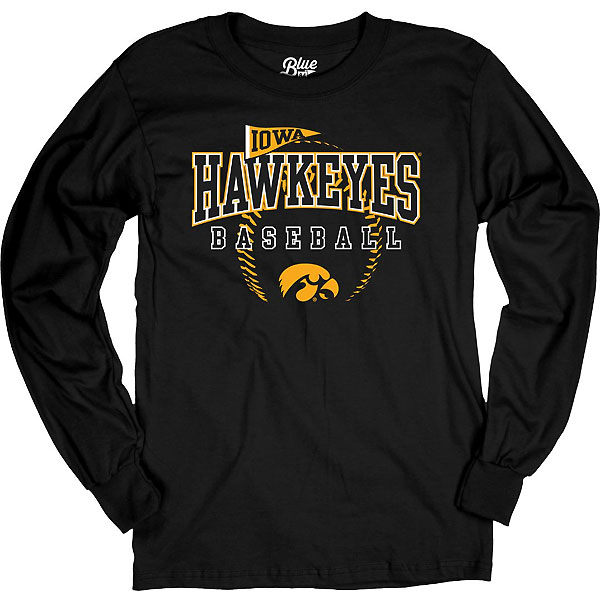 Iowa Hawkeyes Baseball Tink Tee - Long Sleeve