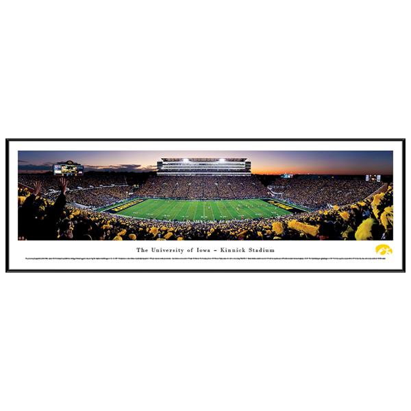 Iowa Hawkeyes Panoramic Picture - University of Iowa Night Scene ...