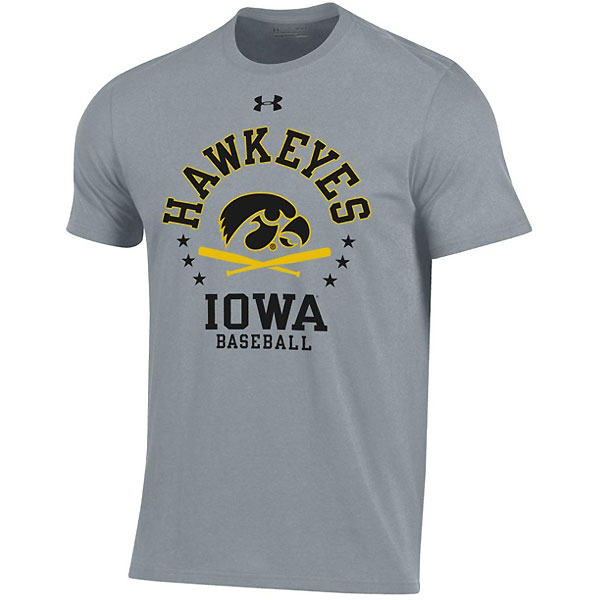 Iowa Hawkeyes Baseball Grey Tee