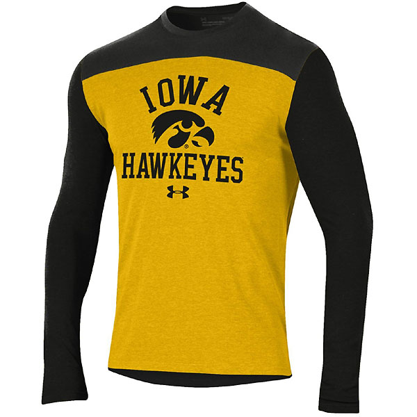 Iowa Hawkeyes Freestyle Blocked L/S Tee