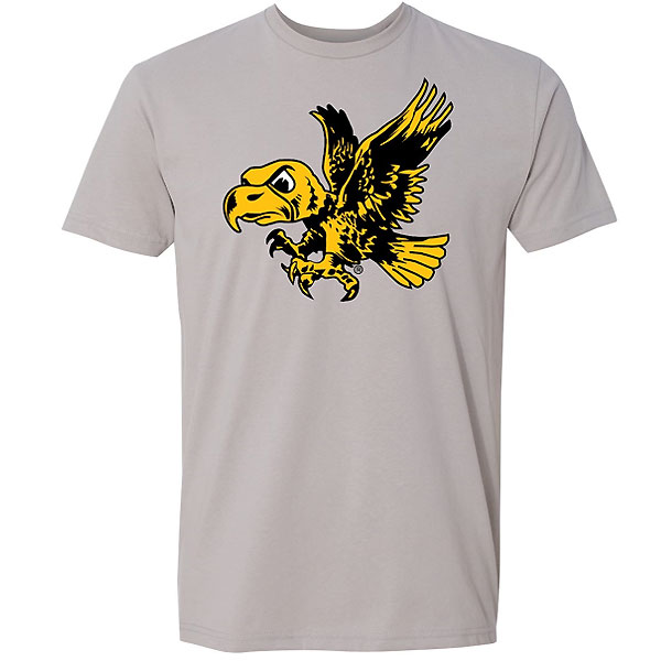 Iowa Hawkeyes Sueded Vintage Logo Tee