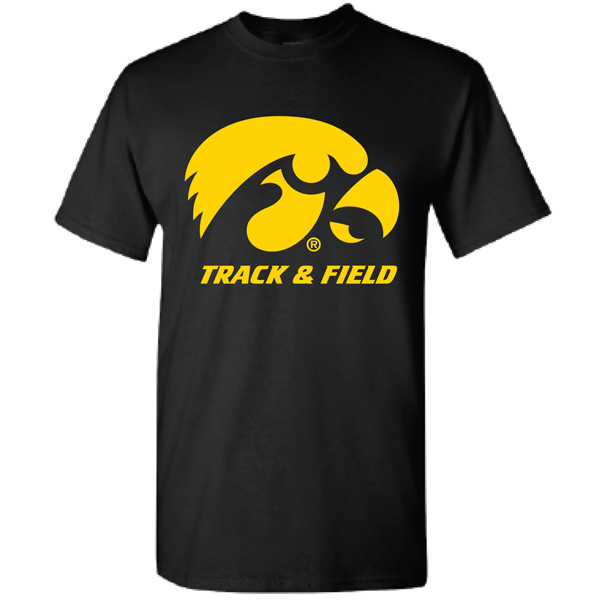 Iowa Hawkeyes Track and Field Logo Tee