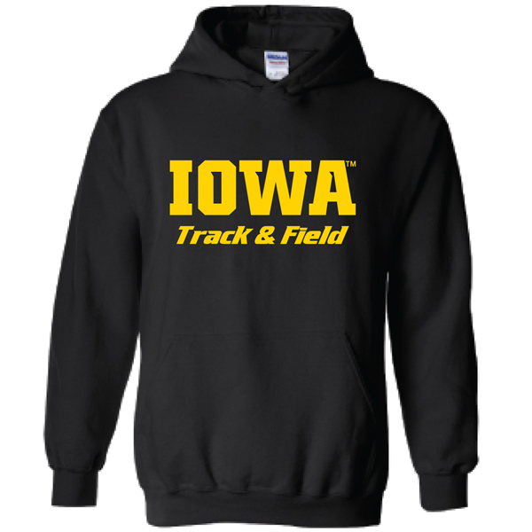 Iowa Hawkeyes Track and Field Logo Hoodie