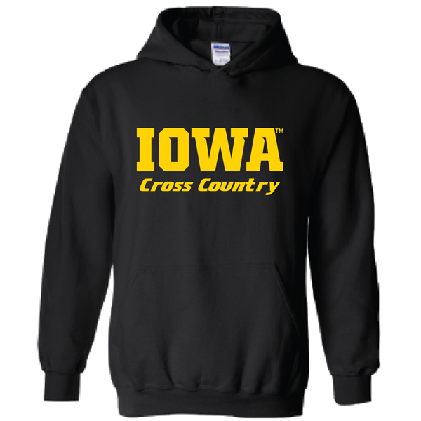 Iowa Hawkeyes Cross Country Logo Hoodie