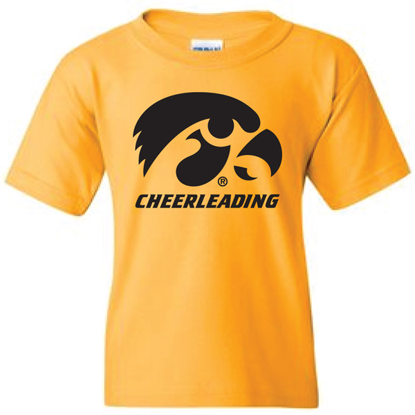Iowa Hawkeyes Youth Cheerleading Logo Tee
