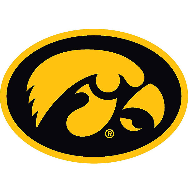 Iowa Hawkeyes Oval Tigerhawk Decal