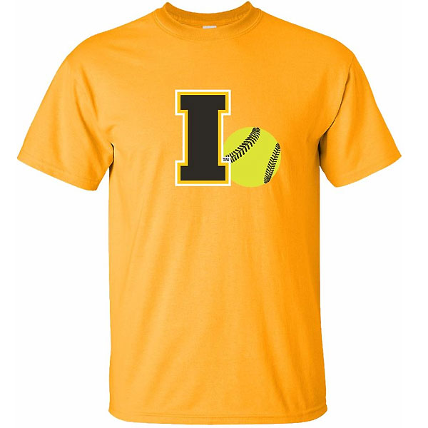 Iowa Hawkeyes Softball I Logo Ball Tee