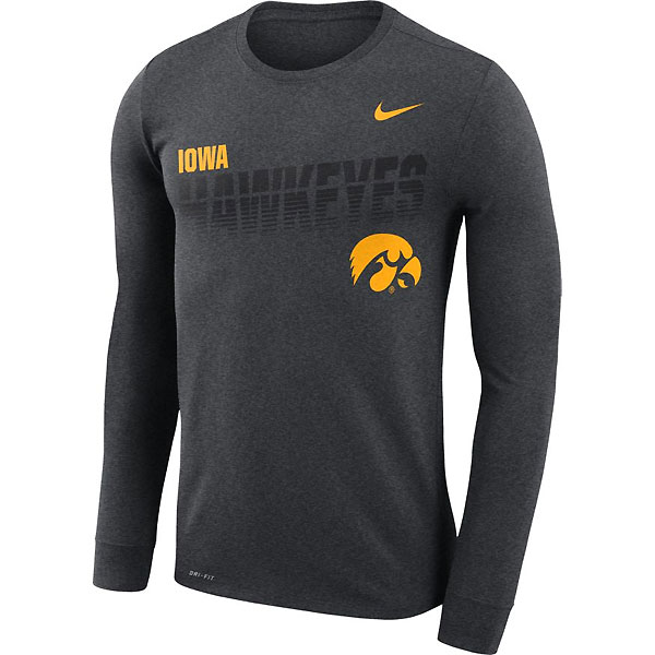 Iowa Hawkeyes Legend Sideline Long Sleeve Tee