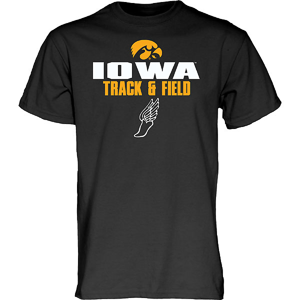 Iowa Hawkeyes Track and Field Blank Slate Tee - Short Sleeve
