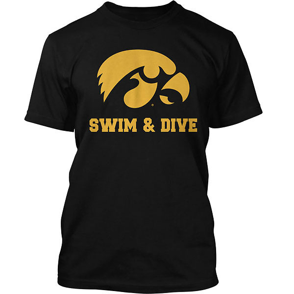 Iowa Hawkeyes Swimming and Diving Tee -Short Sleeve