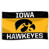 Iowa Hawkeyes 3-Panel Flag