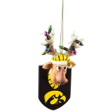 Iowa Hawkeyes Resin Reindeer Ornament