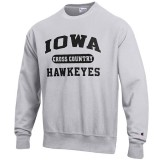 Iowa Hawkeyes Cross Country Reverse Weave Crew Sweat
