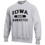 Iowa Hawkeyes Dad Reverse Weave Crew Sweat