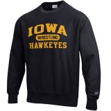 Iowa Hawkeyes Wrestling Black Reverse Weave Crew Sweat