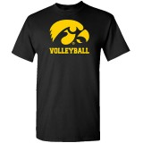 Iowa Hawkeyes Youth Volleyball Logo Short Sleeve Tee