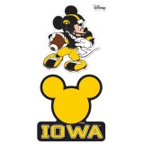 "Iowa Hawkeyes Disney 4"" X 8"" Decal Set"
