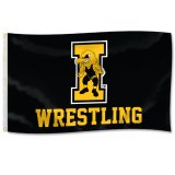 "Iowa Hawkeyes Wrestling ""I"" Logo Flag"