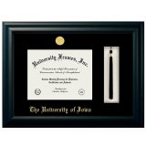 Iowa Hawkeyes Black Diploma Frame With Tassel