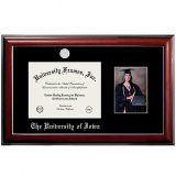 Iowa Hawkeyes Mahagony Diploma Frame - Photo