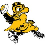 Iowa Hawkeyes Old School Football Decal