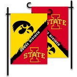 Iowa Hawkeyes House Divided Garden Flag