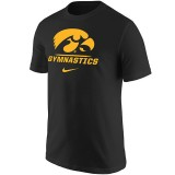 Iowa Hawkeyes Black Gymnastics Tee