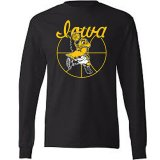 Iowa Hawkeyes Basketball Black Shirt - Long Sleeve