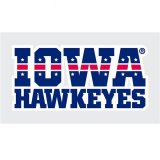 Iowa Hawkeyes Patriotic Iowa Hawkeyes Stacked Decal