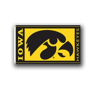 Iowa Hawkeyes 3' x 5' Black and Gold Flag