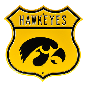 Iowa Hawkeyes Route Sign