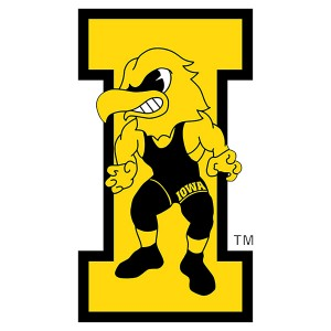 Iowa Hawkeyes Vintage Wrestling Herky Decal-Color