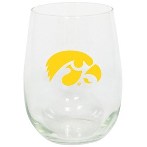 Iowa Hawkeyes Stemless Logo Glass