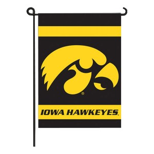 Iowa Hawkeyes Double Sided Garden Flag
