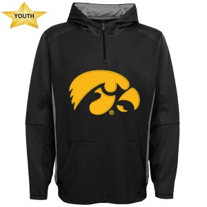 Iowa Hawkeyes Youth Field 1/4 Zip Hoodie