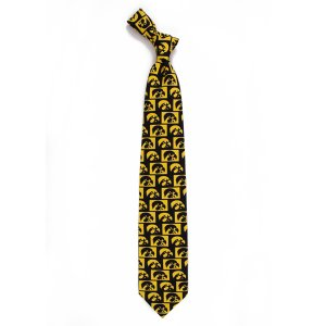 Iowa Hawkeyes Checkered Tile Tie