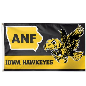 Iowa Hawkeyes ANF Flying Herky Flag
