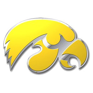 Iowa Hawkeyes Color Auto Emblem
