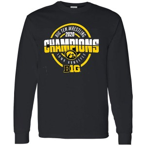 Iowa Hawkeyes Wrestling Tournament Championship Tee - Long Sleeve