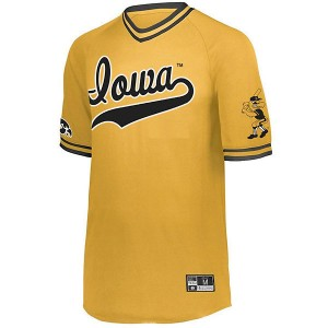 Iowa Hawkeyes Baseball Retro V-Neck Jersey