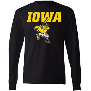 Iowa Hawkeyes Baseball Batting Herky Tee