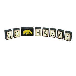 Iowa Hawkeyes Go Hawks Blocks