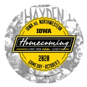 Iowa Hawkeyes 2020 Homecoming Button
