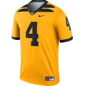 Iowa Hawkeyes #4 Gold Football Jersey