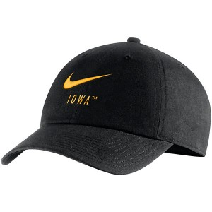 Iowa Hawkeyes H86 Swoosh Black Hat